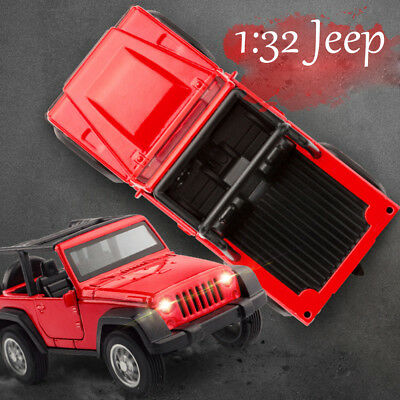 1:32 Toys Vehicle Car Model Imitation For Jeep Wrangler Off-Road w/ Lights Audio