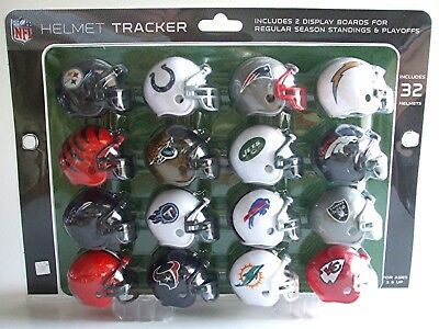 Complete SET 32 NFL Football AFC NFC MINI HELMETS w Standings/Playoff Boards NEW