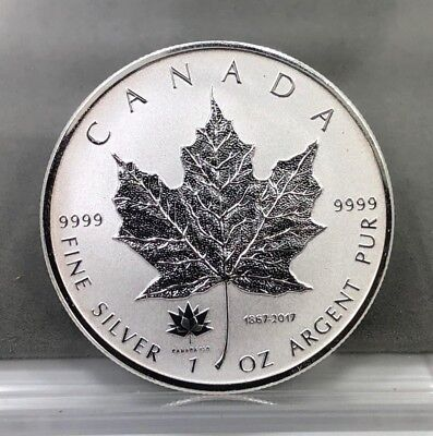 2017 $5 Canada Maple Leaf 150th Anniversary Privy1oz .9999 Fine Silver Coin