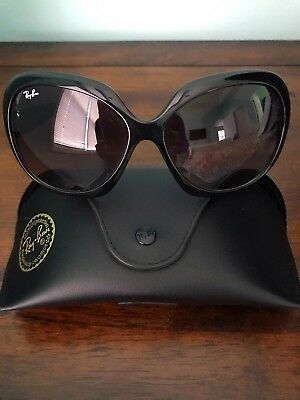 Ray Ban Women's Sunglasses RB4098 Jackie Ohhh II Black Gradient Round Polarized