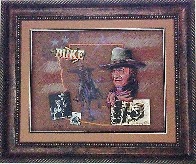 John Wayne Original Arizona Historical Western Art signed by artist Thel Arthur