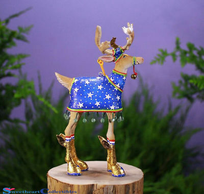 Patience Brewster Reindeer Comet Medium Ornament 6.25 Inches NEW IN The BOX
