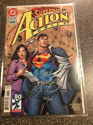 Action Comics 1000 Death Of Superman Auth Dan jurgens Signed Dynamic Forces COA