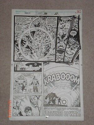 Dale Keown Original Art – The Incredible Hulk Issue #191 (Year 1986), Page #30