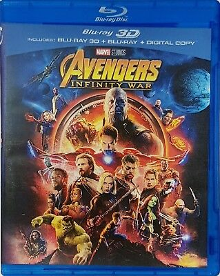 Avengers Infinity War 3D Blu-ray Marvel Region Free Best Deal....