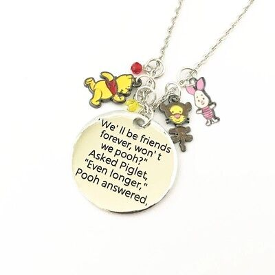 Winnie The Pooh Charm Necklace Disney Double Sided