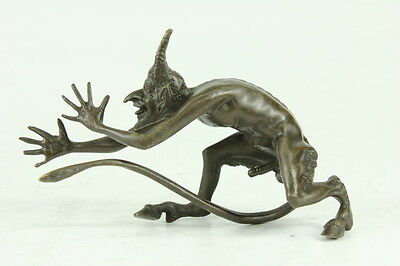 Hand Made French Bronze Devil/Demon/Gargoyle/Satyr Hot Cast Figurine Sale