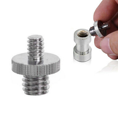 "Hot 1/4"" to 3/8"" Male Threaded Screw Adapter for Camera Tripod Monopod Ballhead"