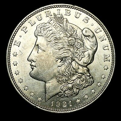 1921 D ~**ABOUT UNCIRCULATED AU**~ Silver Morgan Dollar Rare US Old Coin! #59