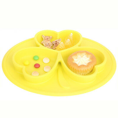 2017 New One-Piece Silicone Placemat Food Plate Table Mat for Baby Toddler Kids