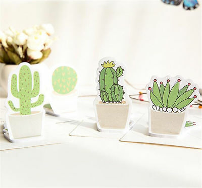 X1 Random Creative Stationery Convenient Cactus Stylish Note N Stickers Sticky ♫