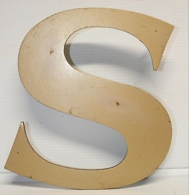 "Vintage Cast Aluminum 8"" Letter ""S"" Marquee - Theater -  Decor"