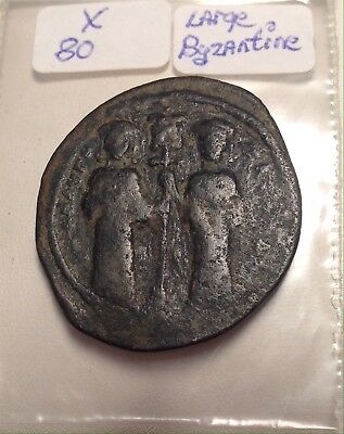Ancient Byzantine Empire Bronze 29mm Coin Old Gothic Monastery Type 9th Century?