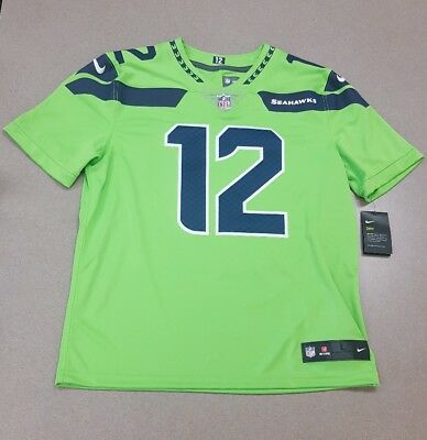 100% authentic 0e116 77646 NWT$150 NIKE SEATTLE Seahawks #12 Fan Color Rush Limited ...