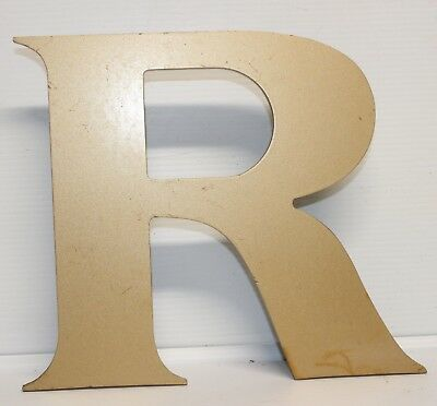 "Vintage Cast Aluminum 8"" Letter ""R"" Marquee - Theater -  Decor"