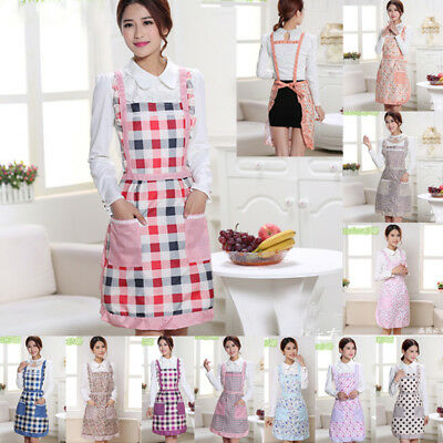 Women Men Cooking Chef Kitchen Home Restaurant Bib Aprons Dress With Pocket Gift