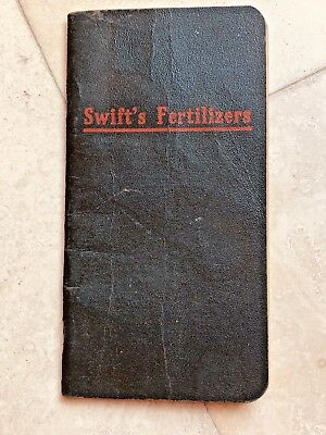1920 Swift's Red Steer Fertilizers Memo Book