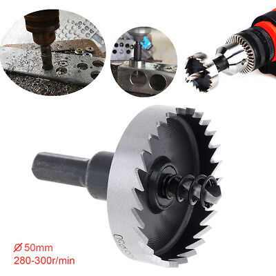 50mm Hole Saw Tooth HSS Stainless Steel Drill Bit Set Cutter Tool For Metal Wood