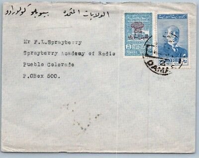 GOLDPATH: Syria cover, 1940-60, To Pueblo CO USA, CBHW_05_02