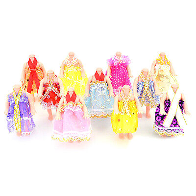 5x  Princess Party Dresses Clothes For 12cm Doll Fashion Dolls Accessories New