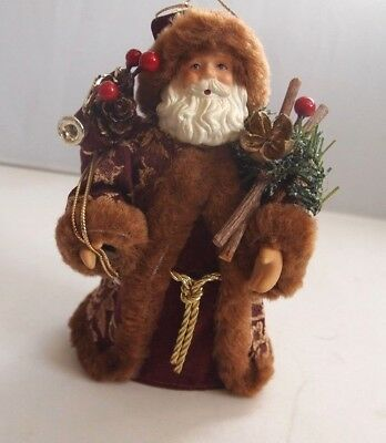 Christmas Santa Standing Table Top  Figurine Mini Tree Topper Ornament