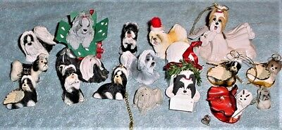 18 Shih Tzu Dog Figurines and Metal Collectibles, NEW