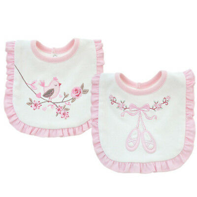 Baby Girl Bibs Animal Princess Lace Cotton Bandana Bibs Saliva Towel US