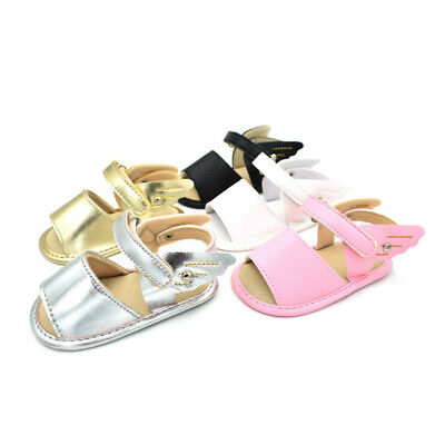 Baby Infant Kids Boy Girl Soft Sole Crib Shoes Toddler Summer Pram Sandals 0-18M