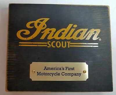 Indian Scout Commemorative Plaque- Americas First Motorcycle Company History