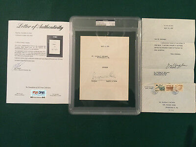 Syngman Rhee Psa/dna Autographed 1954  Note, Very Rare, Investment Grade,s Korea