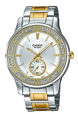 NEW MODEL Casio LTP-E135SG-7A Women's Stainless Steel Watch Two-Tone 50M SS Case