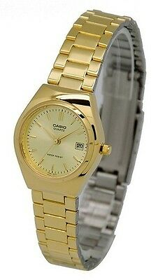 Casio LTP1170N-9A Ladies Stainless Steel Gold Tone Casual Dress Watch Gold Dial