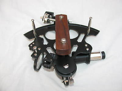 "Vintage Marine Instrument Nautical Black Powder Sextant 8"" Replica Xmas Gift"