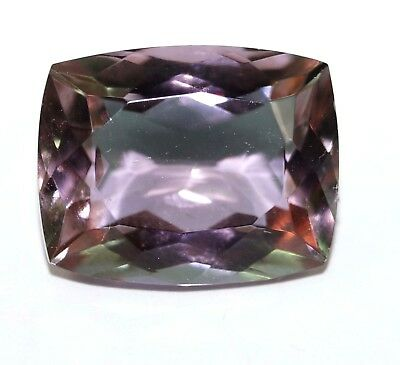 GGL Certified 15.65 Ct Charming Emerald Cut Color Changing Alexandrite Gemstone