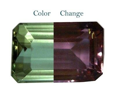 GGL Certified 14.80 Ct Charming Emerald Cut Color Changing Alexandrite Gemstone