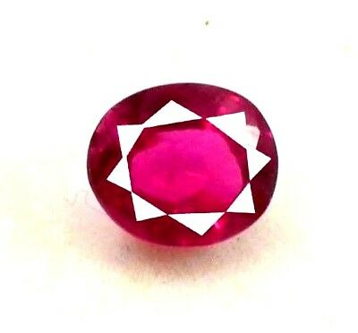 GGL Certified Natural 3.60 Ct Oval Cut Burma Red Ruby Mozambique Gem