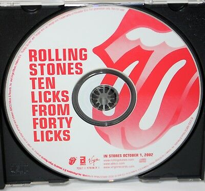 """THE ROLLING STONES """"Ten Licks From Forty Licks"""" PROMO ONLY CD / US  ©2002"""