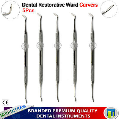 5pc Dental Wax / Amalgam Ward Carvers Scraper Modelling Carving Restorative Tool