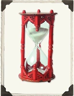 Victorian Trading Co Gothic Sand Timer Hourglass Red