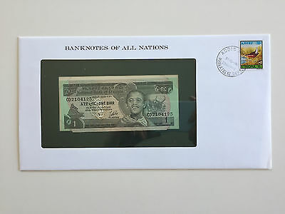 Banknotes of All Nations – Ethiopia 1 Birr 1976 UNC