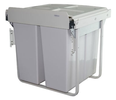 Pull-Out 68L Soft Close Waste/Recycle Bin for 600mm Kitchen Unit (Front Fixing)
