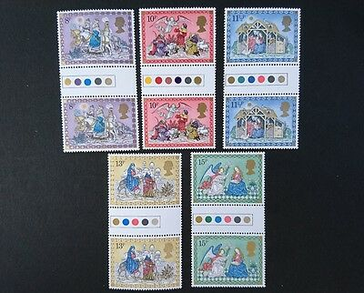 Gb U/m Commemorative Stamp Gutter Pairs. -  Christmas -  21.11.79