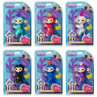Bonus Maxell Lr44 Sonstige Humorous Wowwee Fingerlings Interactive Blue Monkey 100% Authentic Spielzeug