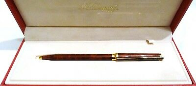 S. T. Dupont Laque De Chine Ballpoint Pen With Gold Accents In Box