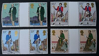 Gb Um Commemorative Stamp Gutter Pairs - Rowland Hill - 22.8.79