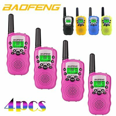 4x Baofeng T3 Mini Walkie Talkie 3-5km Two Way Radio Licence Free 22CH Kids Gift