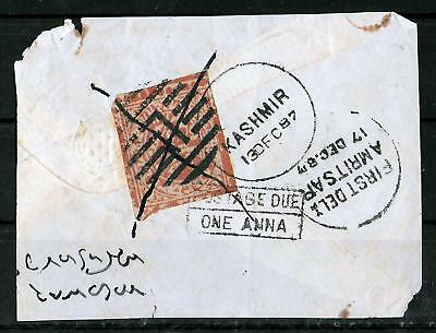 JAMMU & KASMIR INDIA 1887 Used on Paper Unchecked