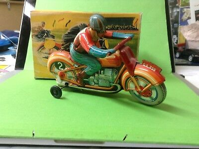 TECHNOFIX Blechmotorrad Tin Toy motorcycle GE  255  France in Box