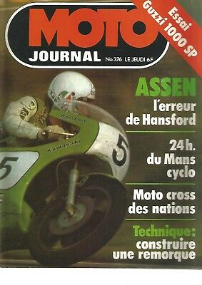Moto Journal N°376 Guzzi 1000 Sp / Ossa Trial 350 / Le Cross En Ile-De-France