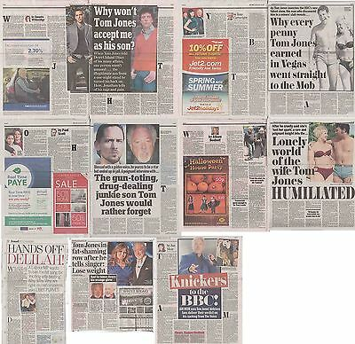 TOM JONES : CUTTINGS COLLECTION -newspaper articles-